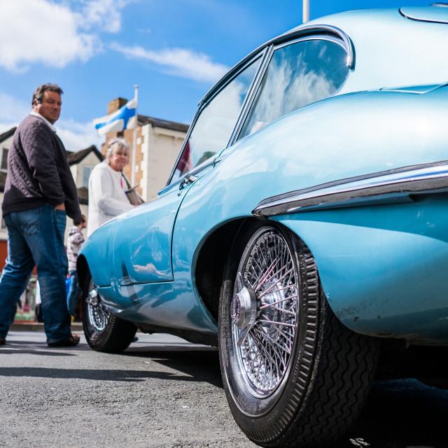 """""""Jaguar Classic E Type"""" stock image"""