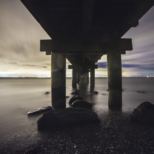 """""""Under the Bridge ......."""" stock image"""