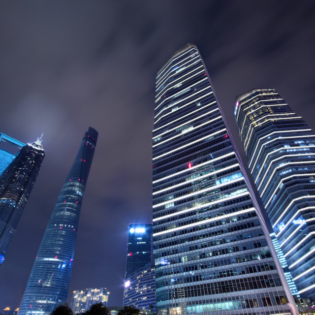 """Shanghai skyscrapers"" stock image"