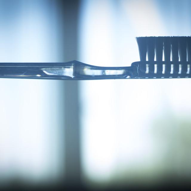 """Toothbrush dental hygiene plaque control"" stock image"