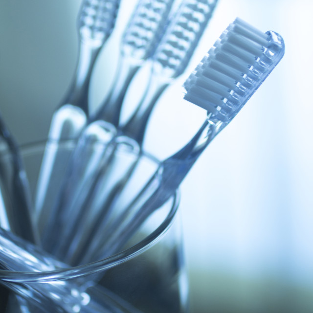 """""""Toothbrushes dental hygiene plaque control"""" stock image"""