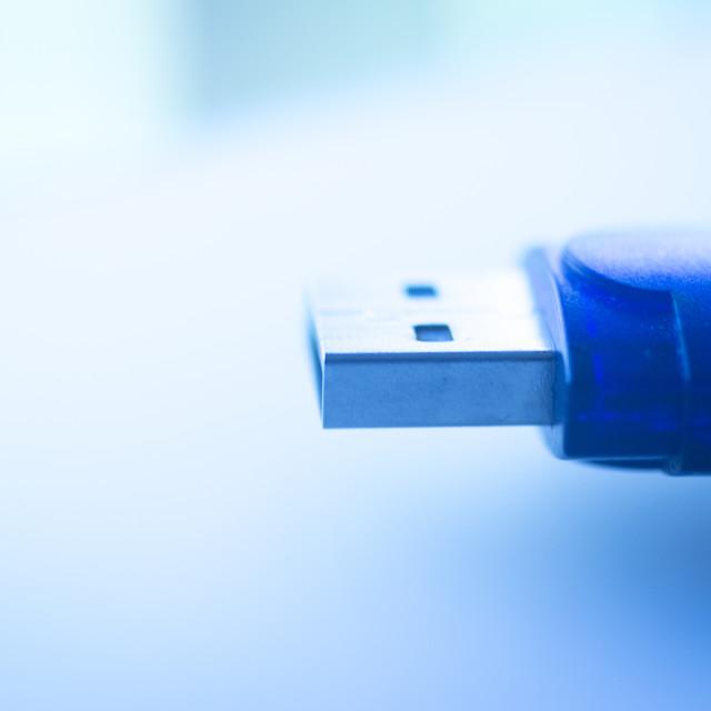 """USB flash drive pendrive IT PC memory storage"" stock image"