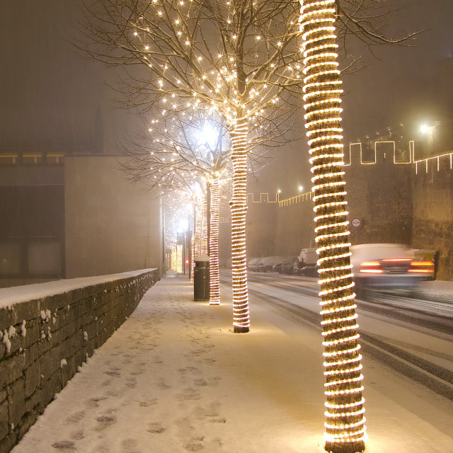 """""""Snow in Christmas time"""" stock image"""