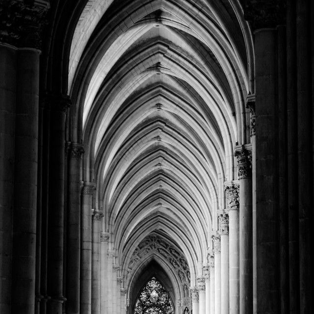 """Cathedral Interior - Reims"" stock image"