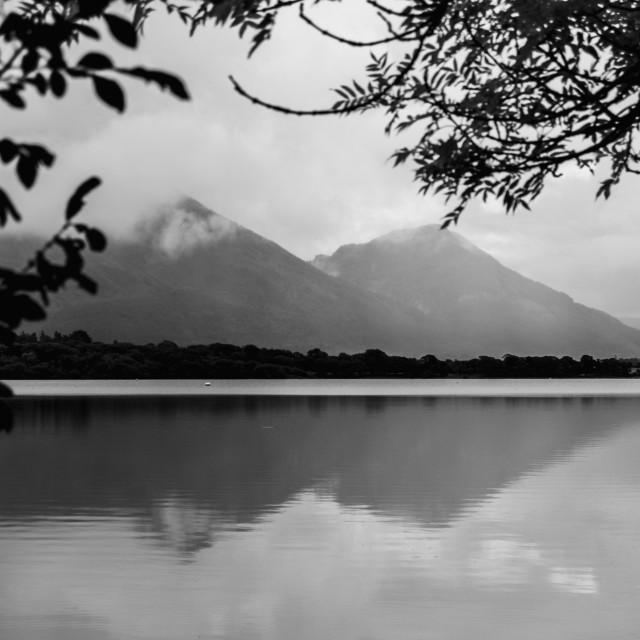 """""""B&W Lake District"""" stock image"""