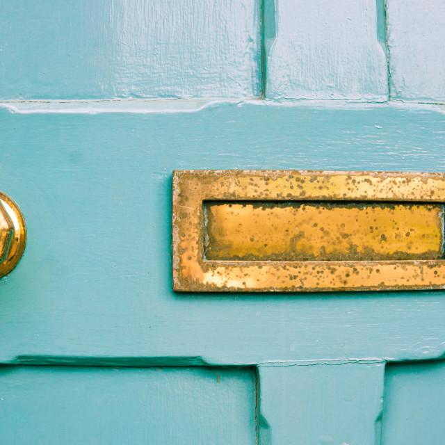 """""""Blue door"""" stock image"""