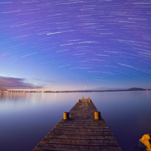 """""""The Lake at night ..."""" stock image"""