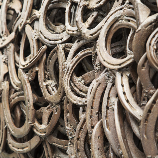 """Horseshoes"" stock image"
