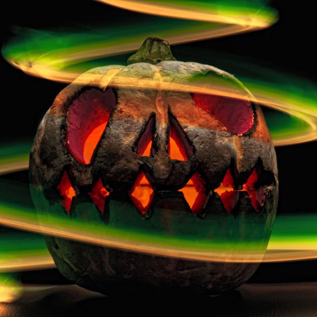 """pumpkin bad"" stock image"
