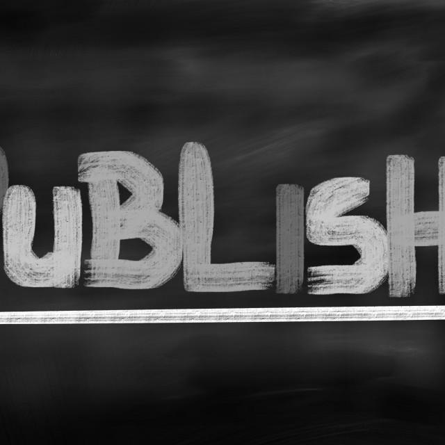 """Publish Concept"" stock image"