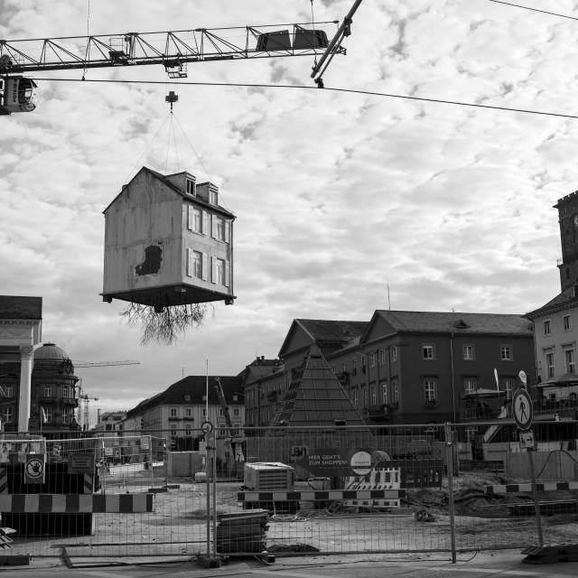 """""""Karlsruhe Zentrum"""" stock image"""