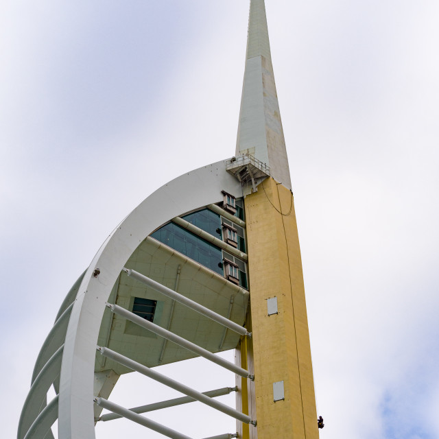 """Painting the Spinnaker Tower"" stock image"