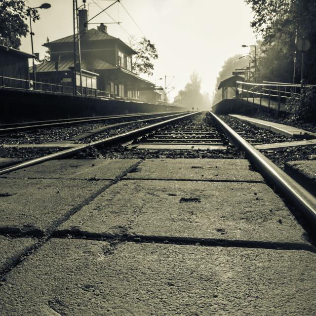"""Old Railway Station"" stock image"