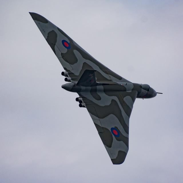 """""""Vulcan Farewell Leaving Wellsbourne"""" stock image"""