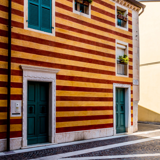 """The Stripey House"" stock image"