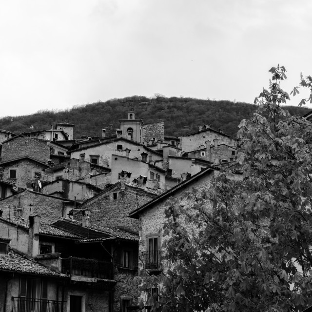 """The roofs of Scanno - Italy"" stock image"