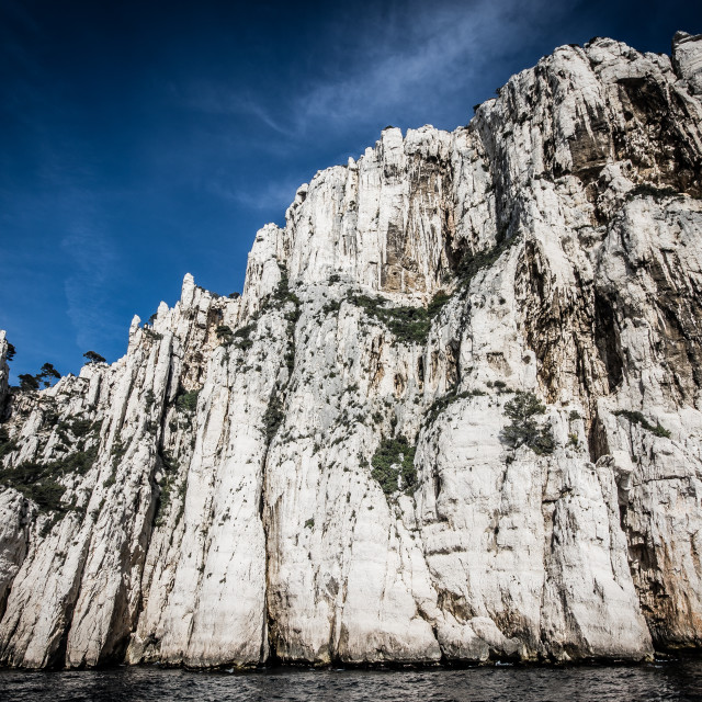 """""""Cassis rocks boat trip"""" stock image"""