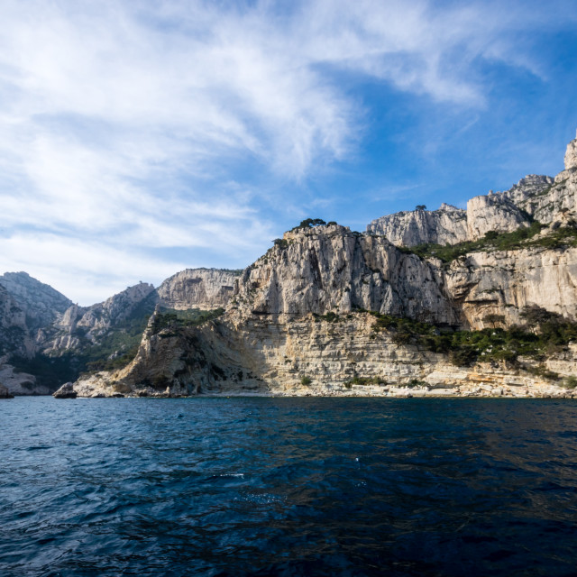 """Cassis rocks boat trip"" stock image"