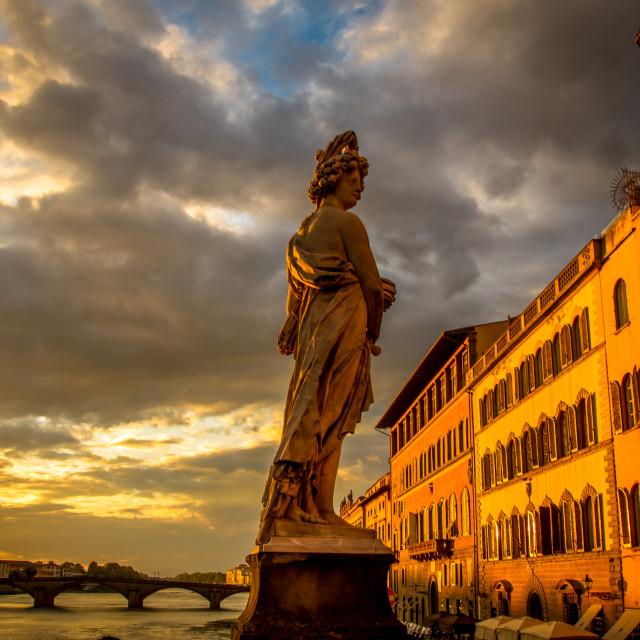 """Bridge of Santa Trinita in Florence, Italy"" stock image"