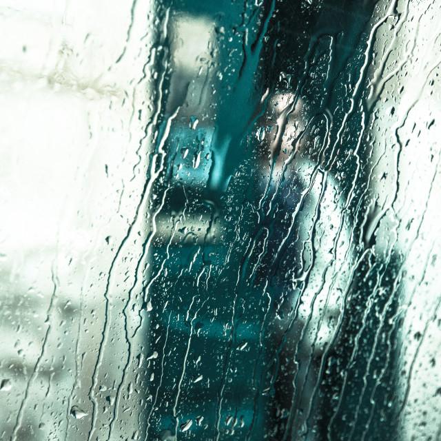 """""""Portrait in the rain."""" stock image"""