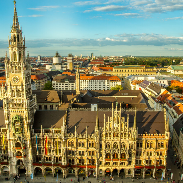 """New Town-Hall, Munich"" stock image"