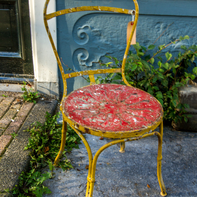 """""""old chair for sale"""" stock image"""