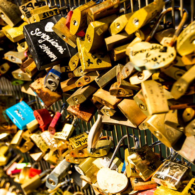 """Love locks"" stock image"
