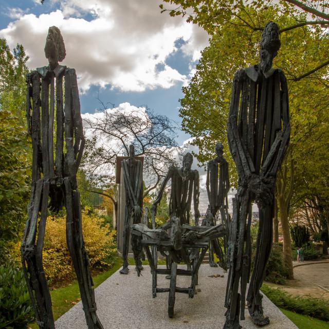 """""""Auschwitz memorial, Pere Lachaise, Paris"""" stock image"""