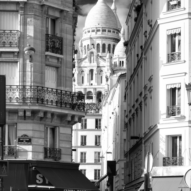 """Sacre Coeur from Anvers, Paris"" stock image"