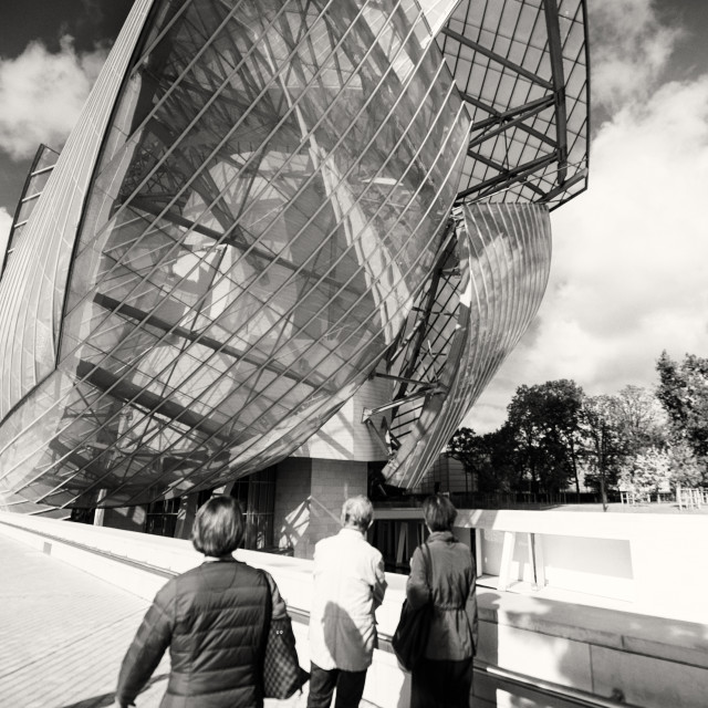 """Fondation Louis Vuitton, Paris I"" stock image"