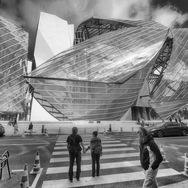 """Fondation Louis Vuitton, Paris II"" stock image"