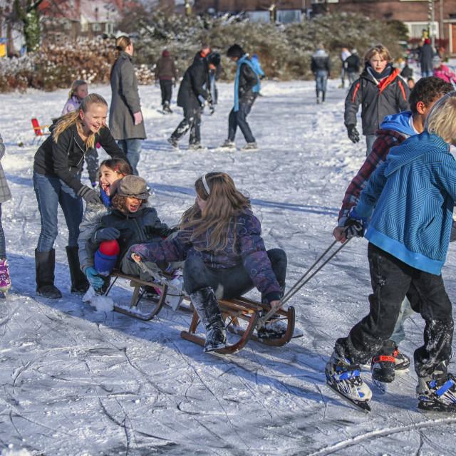 """""""Fun on ice"""" stock image"""