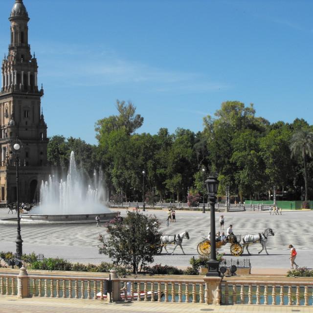 """""""Plaza de Espana"""" stock image"""