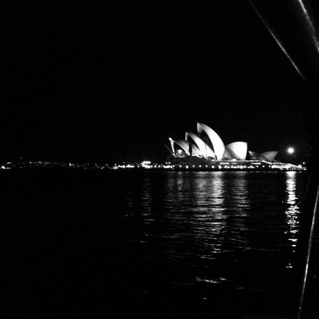 """Opera House by night"" stock image"