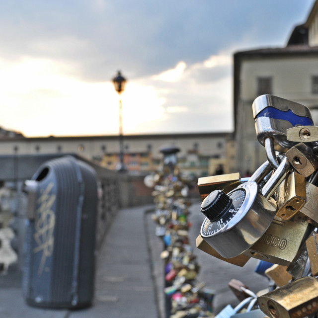 """Locks of Florence (Landscape)"" stock image"
