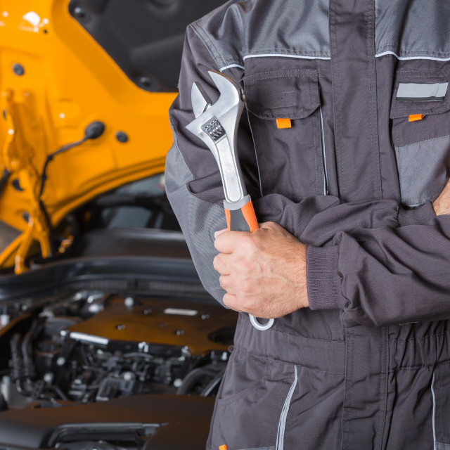 """Car mechanic"" stock image"