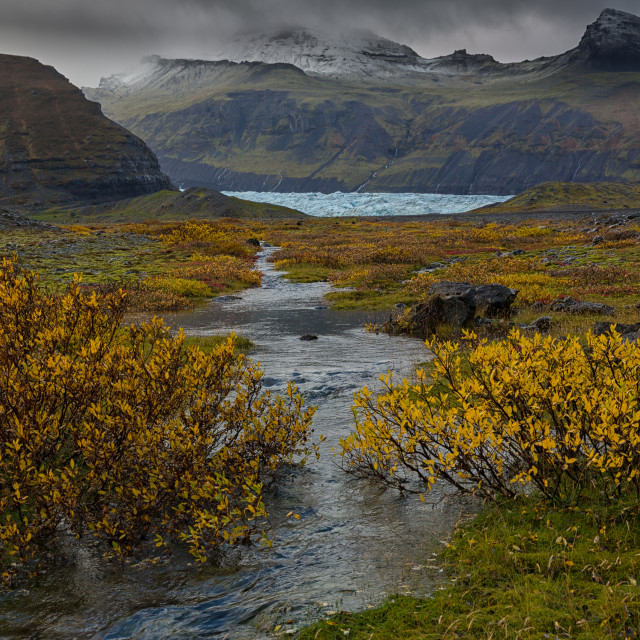 """autumn and glacier"" stock image"