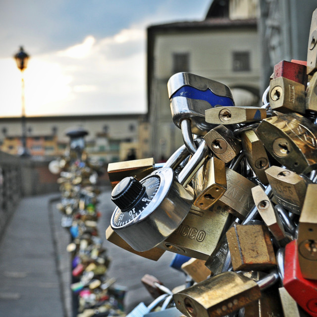 """Locks of Florence"" stock image"
