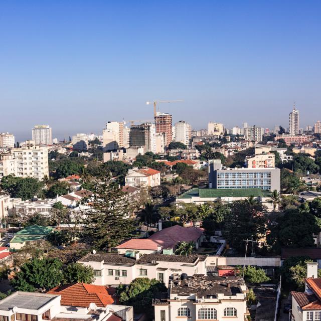 """Maputo Skyline 1"" stock image"