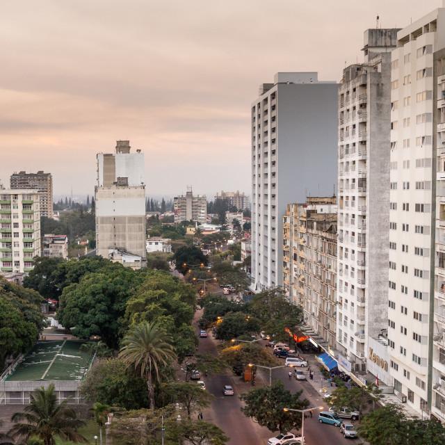 """Maputo Skyline 2"" stock image"