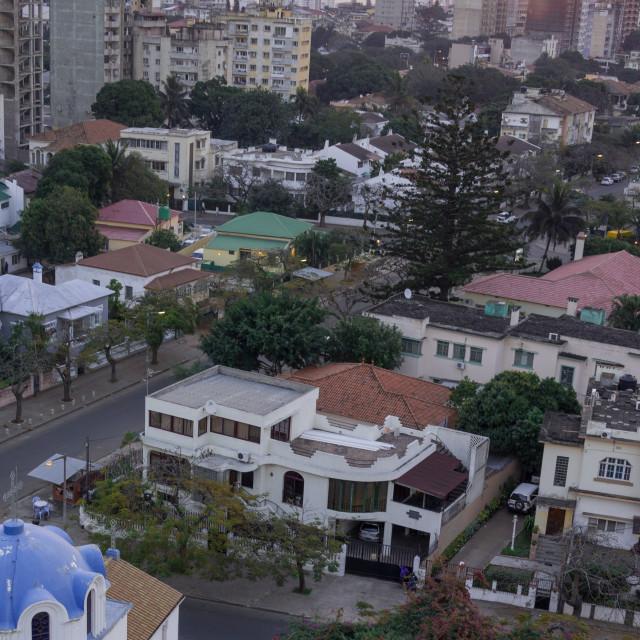 """Maputo Sunset 1"" stock image"