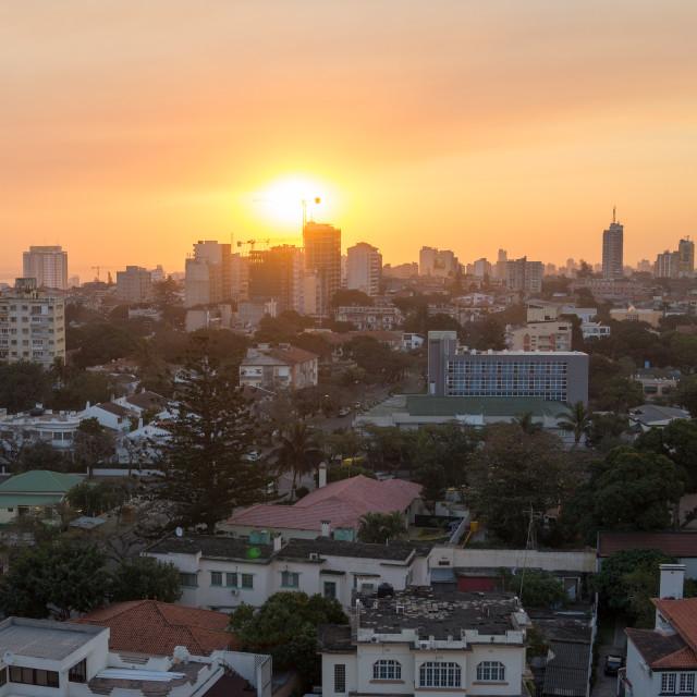"""Maputo Sunset 2"" stock image"