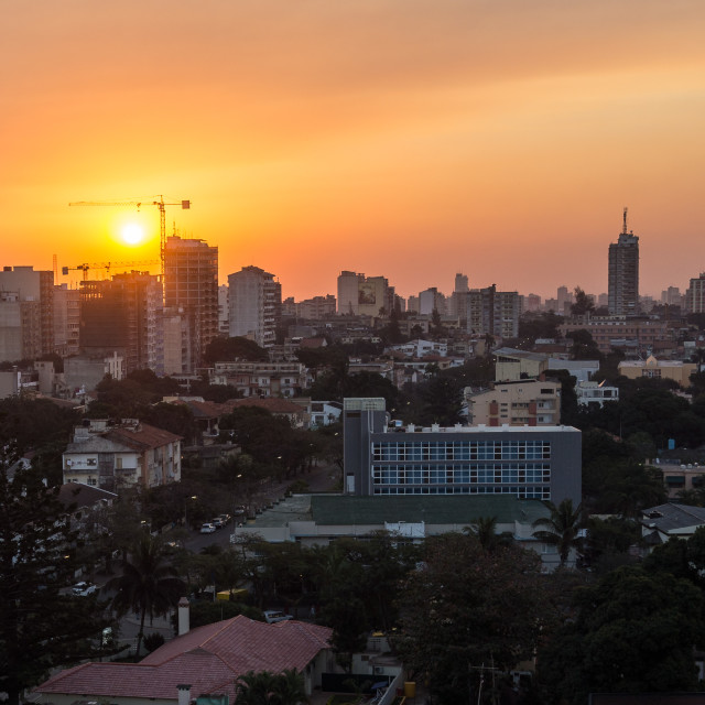 """Maputo Sunset 3"" stock image"