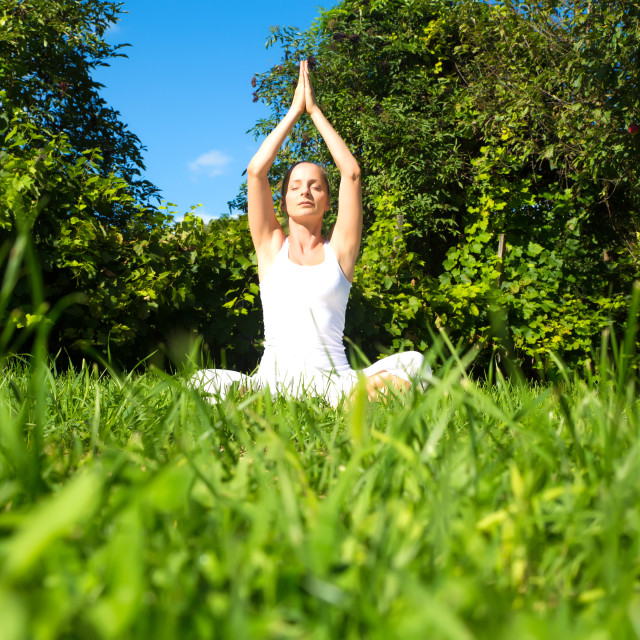 """""""Meditating in the Park"""" stock image"""