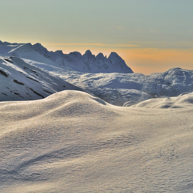 """Småtindan in wintertime"" stock image"