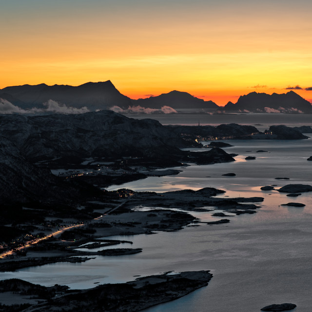 """Polar nigth in Bodø"" stock image"