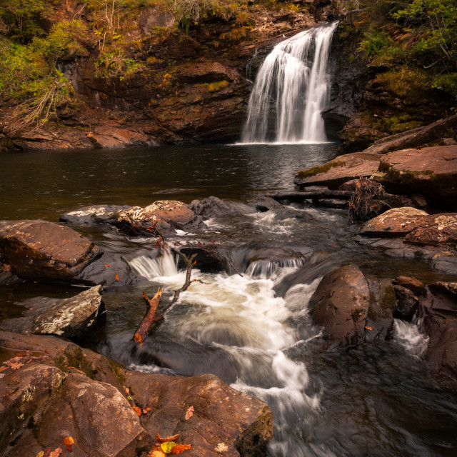 """Falls of Falloch, Scotland"" stock image"