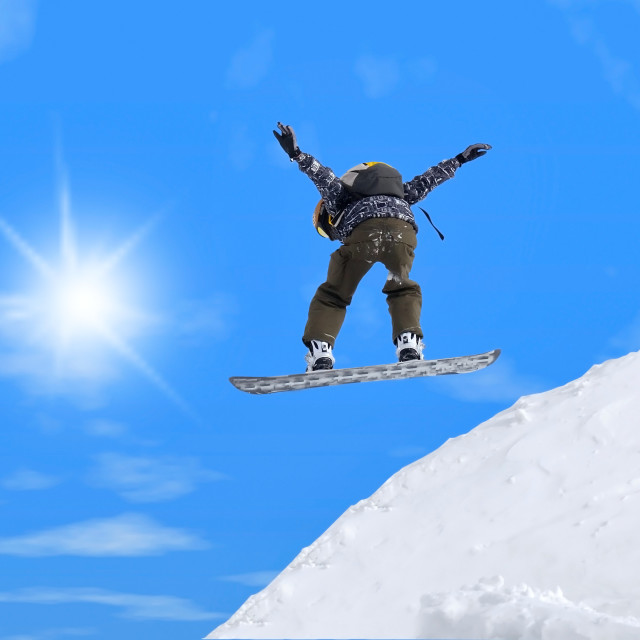 """""""Jump with snowboard"""" stock image"""