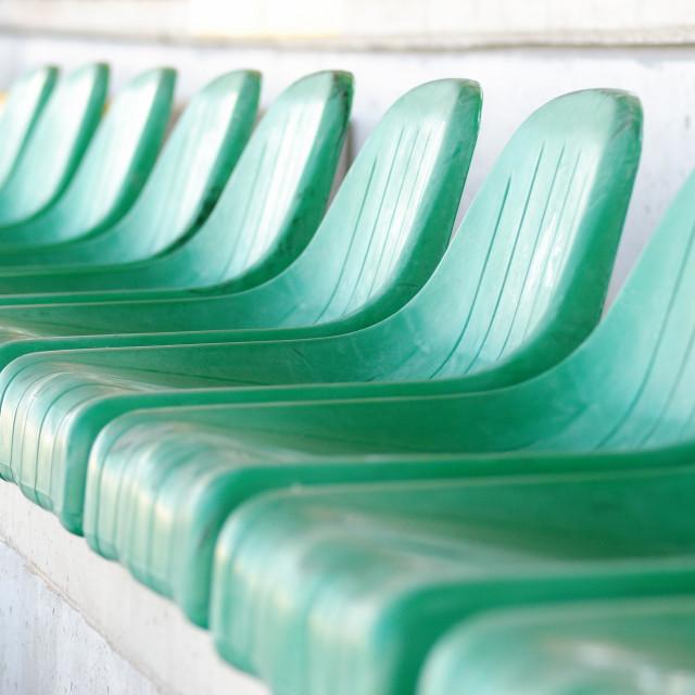 """Stadium chair"" stock image"