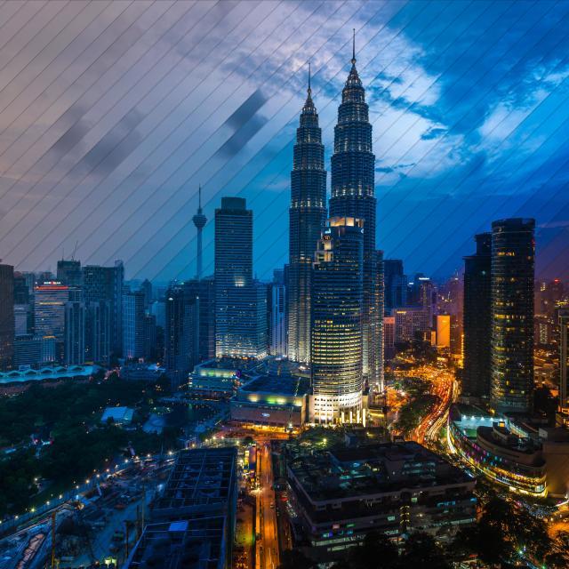 """Kuala Lumpur Time Sliced #2"" stock image"